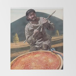 Pizza Hunter Throw Blanket