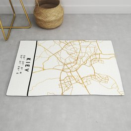 KIEV UKRAINE CITY STREET MAP ART Rug