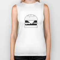 burger Biker Tanks featuring Burger  by Keep It Simple