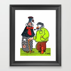 Cartoon comics 4 Framed Art Print