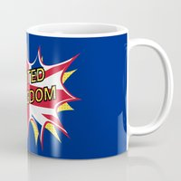 union jack Mugs featuring Union Jack by mailboxdisco