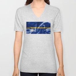 Nauru Flag Unisex V-Neck