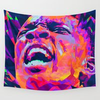 nba Wall Tapestries featuring ERIC BLEDSOE: NBA ILLUSTRATION V2 by mergedvisible