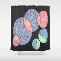 dot Shower Curtains featuring Dot Dot Dot by Sarah J Bierman