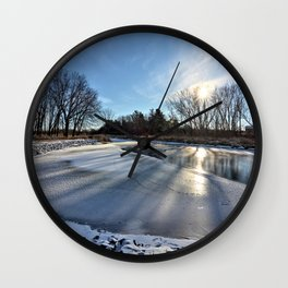 Long Shadows of Winter Wall Clock