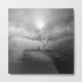 Black and White - Blue sunrise Metal Print