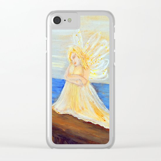 Invite your Angel | Angels are here Clear iPhone Case