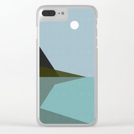 Abstract and geometric landscape 02 Clear iPhone Case