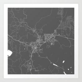 Flagstaff USA Modern Map Art Print Art Print
