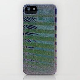 Green striped Palm Leaf iPhone Case
