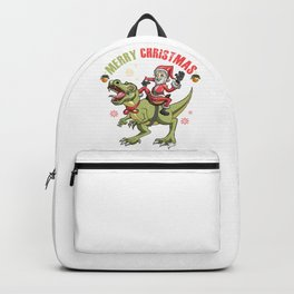 Santa And T-Rex Backpack