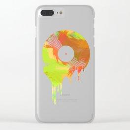 Graffiti Meting Vinyl Record Clear iPhone Case