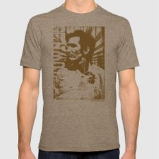 Townes Van Zandt Mens Fitted Tee Tri-Coffee SMALL
