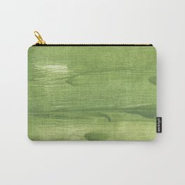 Green leafi stained watercolor pattern Carry-All Pouch