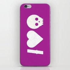 I Love Skulls iPhone & iPod Skin