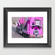 Pink pink truck Framed Art Print