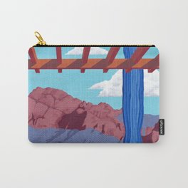 Blue Saguaro Carry-All Pouch