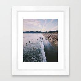 Winter in Santa Monica, California Framed Art Print