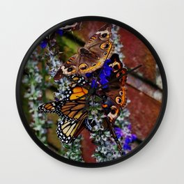 Multiple Butterflies Wall Clock