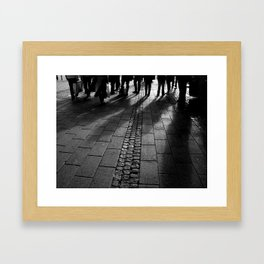 shadows in downtown Framed Art Print