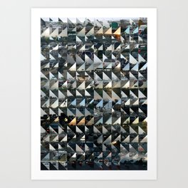 Commuter Quilt Art Print