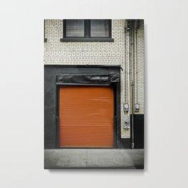 Red Metropolitan Garage Metal Print