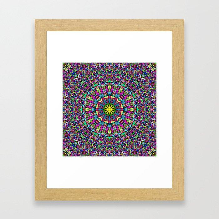 Bohemian Mandala Ornament Framed Art Print