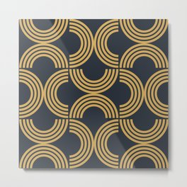 Deco Geometric 01 Metal Print