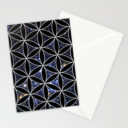 Flower of life in the space Stationery Cards