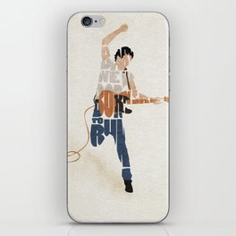 Typography Art of Boss of the Rock Bruce Frederick Springsteen iPhone Skin