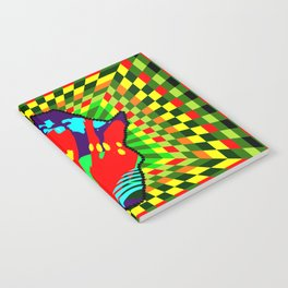 Colorful African Checkered Abstract Print Notebook