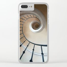 Pretty brown spiral staircase Clear iPhone Case