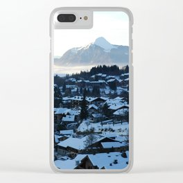 Twilight in the Ski Resort Clear iPhone Case