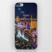 las vegas iPhone & iPod Skins featuring Las Vegas by Création Numérique du Rocher