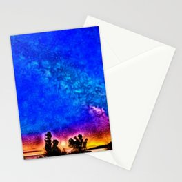 Milky Way - Dawn - Watch Hill, Rhode Island landscape painting by Jeanpaul Ferro Stationery Cards