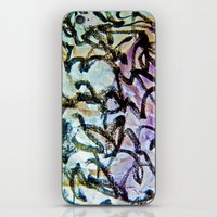 calligraphy iPhone & iPod Skins featuring Imaginary Calligraphy by Blank & Vøid