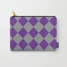 Silver and Purple Carry-All Pouch