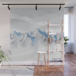 Snow Capped Mountains Wall Mural