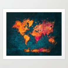 world map art series Art Print