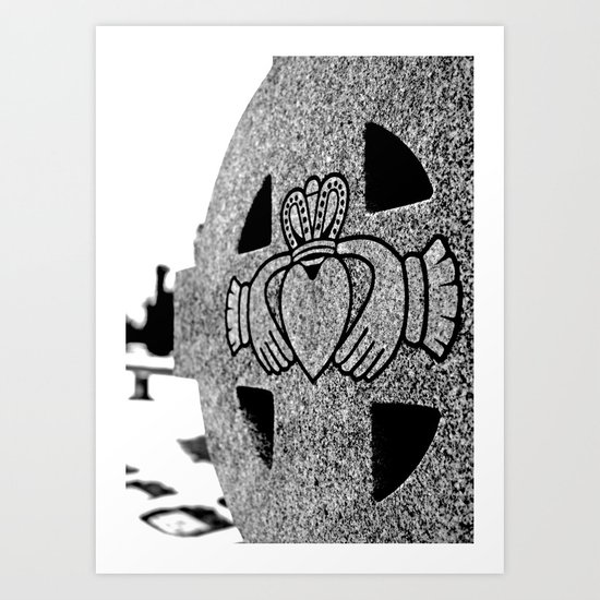 Winter Claddagh Art Print
