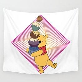 pooh love hony Wall Tapestry