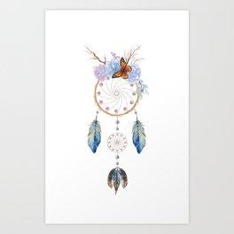Boho dreamcatcher Art Print