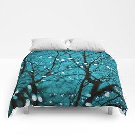 twinkly lights in a tree. Wonder Comforters