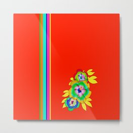 Bright Bold and Colorful Metal Print