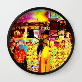 Pike Place Seafood Wall Clock