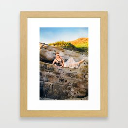 La Jolla Beach Model, with Expression Unlimited Photography Framed Art Print