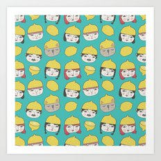 Pattern Project #10 /Lemon Hats Art Print