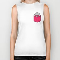 pocket Biker Tanks featuring Pocket Dolphin by Steven Toang