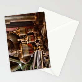 Steam engine oilers - landscape Stationery Cards