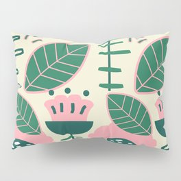 Modern flowers and leaves Pillow Sham